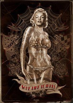 Marilyn Monroe inked - Jan Meininghaus