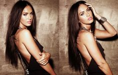 Image via We Heart It #beautiful #black #blueeyes #bracelet #brunette #dress #eyes #fashion #girl #gorgeous #lips #meganfox #pretty #sexy #woman