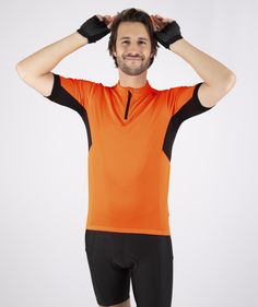 It's Kingsday in the Netherlands! Going out for a bike ride? You better wear something orange, like this Perugia jersey. Men's Cycling, Going Out, Short Sleeves, Spring Summer, Brand New, Zipper, Orange, Netherlands, How To Wear