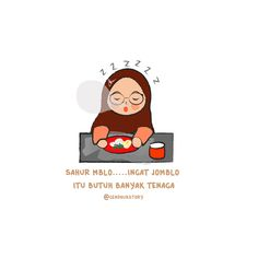 Hijab Quotes, Muslim Quotes, Islamic Quotes, Couple Cartoon, Cartoon Kids, Tumbler Quotes, Quotes Lucu, Islamic Cartoon, Anime Muslim