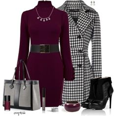 Classy Fashion Outfits 2012 - dresses, coats, boots, tote bags, bracelets, rings, necklaces, earrings, belts, lip gloss, nail polish
