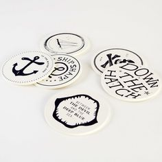 Drunken Sailor Drink Coasters by Izola #Coaster, #Cool, #Drinks, #Gift, #Urban