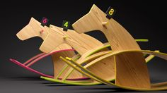 At The Racetrack, personal project by Andrei Serghiuta - 3D render using Maya and mental ray. Product visualization of a wooden horse toy.