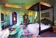 Moroccan bedroom. I absolutely love these colors!!