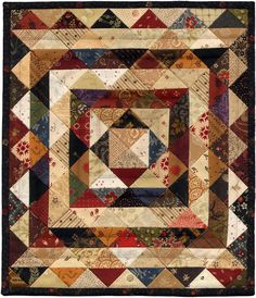 Leftovers by Lori Loff. Use charm squares and make them while using them as leaders and enders. KB~