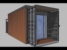 Container maritime 20 pieds aménagé Studio / Shipping Container home Container Van, Container Homes For Sale, Building A Container Home, Container House Plans, Container House Design, 20ft Container, Prefab Shipping Container Homes, Shipping Container Office, Used Shipping Containers