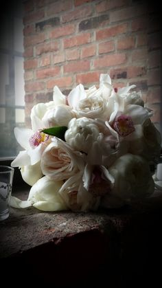 Blush peonies wedding bouquet