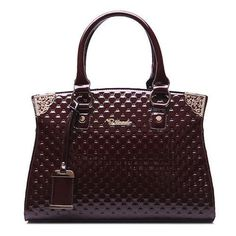 Women's Solid Luxury Top Handle Trunk Bags