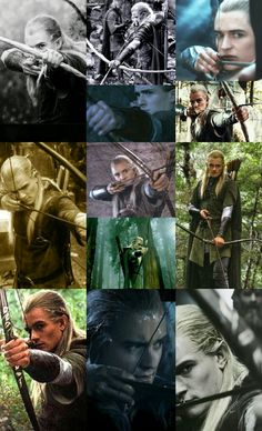 A collage of Legolas and his mighty bow. :)