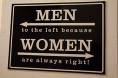 Image result for bathroom men to the left because women