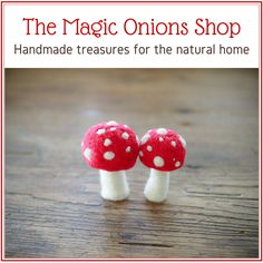 Tutorial : Make Mini Toadstools for your Fairy Garden - The Magic Onions