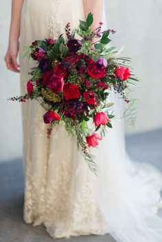 Red Delicious Bouquet by Magdalen Hill - Photography by Natalie McNally