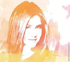 Эффект акварельного портрета с помощью фотошопа - Ярмарка Мастеров - ручная работа, handmade