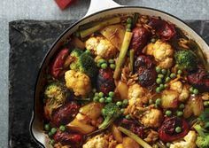Winter Vegetable Medley with Paella-Style Orzo