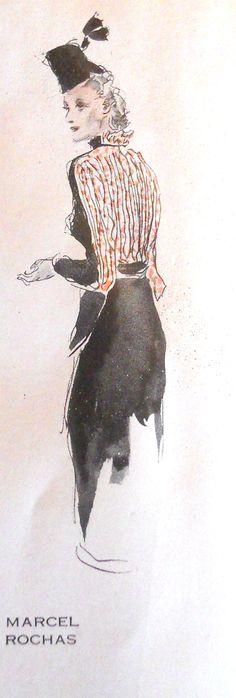 Marcel Rochas, Spring 1938, Plaisir de France magazine - I can just hope Paris citizens still dress like this <3  #MissKL and #SpringtimeinParis