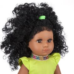Mixed Race/Biracial/Light Brown Doll with Black Curly Hair Black Curly Hair, White Hair, White Underwear, Mixed Race, Handmade Dresses, Printed Skirts, Curls, Curly Hair Styles, Brown