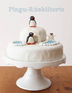 Eine Geburtstagstorte mit Pingu-Motiven. Spektakulär, und gar nicht schwierig / Penguine birthday cake