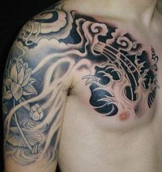 Shoulder, half sleeve: Something about the smokiness of this i like
