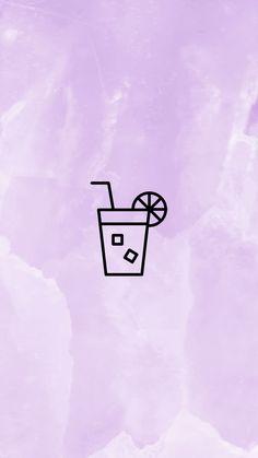 INSTAGRAM STORY COVER : DRINKS WWW.INSTAGRAM.COM/JORDANRENIE Purple Highlights, Story Highlights, Flower Phone Wallpaper, Kawaii Wallpaper, Icon Photography, Tumblr Backgrounds, Instagram Background, Insta Icon, Storyboard Artist