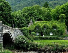 It would take decades for ivy to cover a stone cottage like this