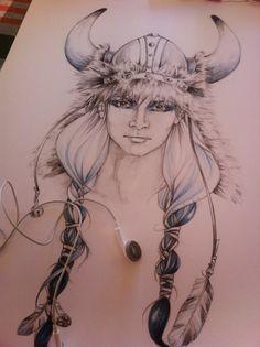 susana miranda ilustración: Vikinga/Viking woman