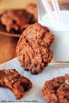 Chocolate Pecan Brownie Cookies by Kirsten | My Kitchen in the Rockies