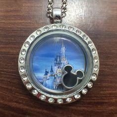 Disney World/Disney Land Themed Medium Floating Charm Locket - 25mm $17