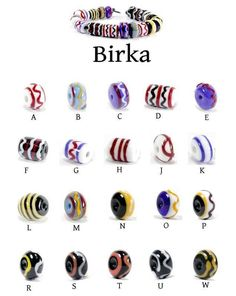 Twelve new types for the Birka section of our Viking bead reproductions.