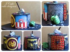 super heroes cake - http://cakesdecor.com/cakes/228203-super-heroes-cake