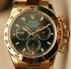Rolex Cosmograph Daytona 116508 Green Dial 18k Yellow Gold Watch Hands-On | aBlogtoWatch