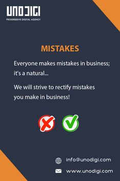 Everyone makes mistakes in business; it's a natural... We will strive to rectify mistakes you make in business! . Looking for problem solvers Or an error fixing? Let's talk - 091775 08848 or info@unodigi.com . . #unodigi #digitalagency #beinspired #webdesign #mobileapp #ux&ui #socialmedia #hyderabad #vizag #work #godigital #web #mobile #ecommerce #Social #leads #strategies #motivation #work #godigital #clientlove #goals #digitalmarketing #adagency #business #teamwork #blessed #marketing #mar Everyone Makes Mistakes, Hyderabad, Teamwork, Mobile App, Ecommerce, Digital Marketing, Projects To Try, Blessed, Web Design