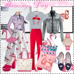 """""""Birds greet Spring Pink Flamingo Welcome"""" by yaschy 