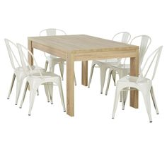Cheap dining option for when we first move out - black or white chairs