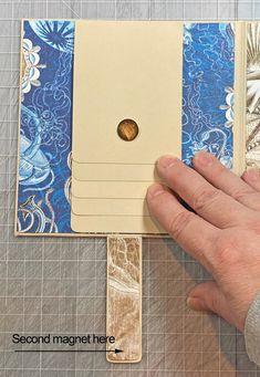 Scraps of Life: Graphic 45 Ocean Blue Mini Album Tutorial Mini Albums Scrap, Mini Scrapbook Albums, Diy Mini Album Tutorial, Scrapbook Layout Sketches, Scrapbook Templates, Chicken Scratch Embroidery, Handmade Books, Handmade Journals, Quilling Designs