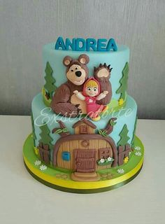 Masha Cake, Dora Cake, Teddy Bears Picnic Food, Masha Et Mishka, Combined Birthday Parties, Cupcakes Decorados, Little Pony Cake, Masha And The Bear, Baby Birthday Cakes
