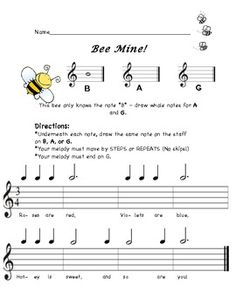 Bee Mine: A BAG Recorder Composition Activity
