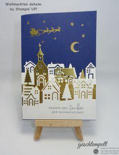 Weihnachten daheim – Winterstädtchen | geschtempelt, Stampin Up, Weihnachten daheim, Winterstädtchen, Hearts Come Home, Hometown Greeting
