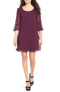 Free shipping and returns on Speechless Bell Sleeve Shift Dress at…