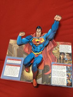 My Superhero Pop-Up Book. 1st page is SUPERMAN!