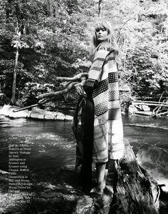 visual optimism; fashion editorials, shows, campaigns & more!: '70s folk goddess: frida gustavsson by cedric buchet for porter #4 fall 2014