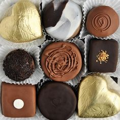 Assorted chocolates.