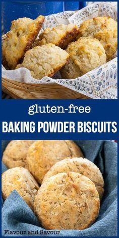 Herbed Gluten-Free Baking Powder Biscuits are simple to make with a handful of ingredients and a gluten-free flour mix. Great with soup or any dinner! Gluten Free Flour Mix, Gluten Free Baking, Gluten Free Recipes, Bread Recipes, Homemade Baking Powder, Baking Powder Biscuits, Homemade Shampoo, Baking Soda Drain Cleaner, Baking Soda Shampoo