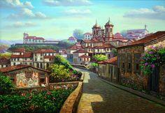 Sebastião Eduardo, Vista de Ouro Preto, OST, 70 x 100,2..