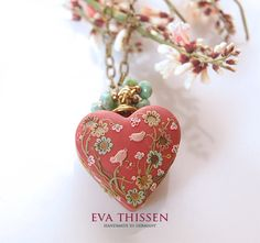 AMORE handmade polymer clay necklace by Eva Thissen Gallery, via Flickr