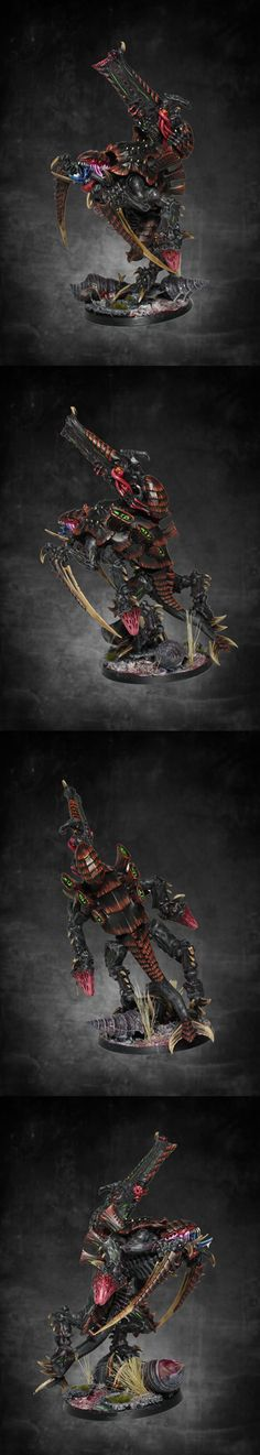 Tyranid Tyranovore: Weapon Sybiotes: Scything-talons; twin-linked devourers w/ brainleech worms; Carapace stranglethorn-cannon. Biomorphs: Armoured-shell