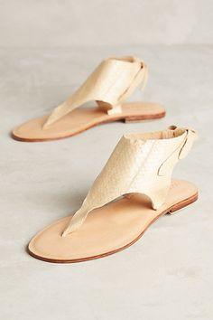 Cocobelle Snake Tie Sandals #anthropologie