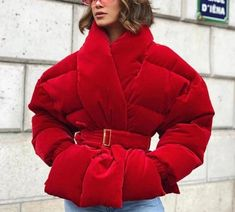 2020 new winter fashion women clothes Cotton-padded Clothes wine red color waist belts adjusted Best Winter Jackets, Wine Red Color, Sexy High Heels, Puffer Jackets, Winter Fashion, Clothes For Women, Womens Fashion, Sleeves, Cotton