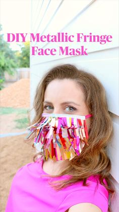 Cool Diy Projects, Sewing Projects, Best Face Mask, Face Masks, Fun Crafts, Crafts For Kids, Party Streamers, 70s Party, Make And Sell