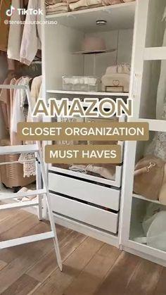 Home Organization Hacks, Closet Organization, Organizing, Room Ideas Bedroom, Diy Bedroom Decor, Home Decor, Bedroom Hacks, Best Amazon Buys, Amazon Products