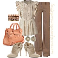 Salmon and Lace, created by lindsycarranza on Polyvore